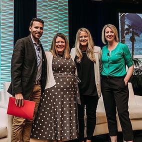 Trevor Riley, Sarah Greenough, Melissa Sampson and Morgan Porter