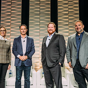 Todd Katler, Doug Brien, Tina Mortera and Lucas Haldeman
