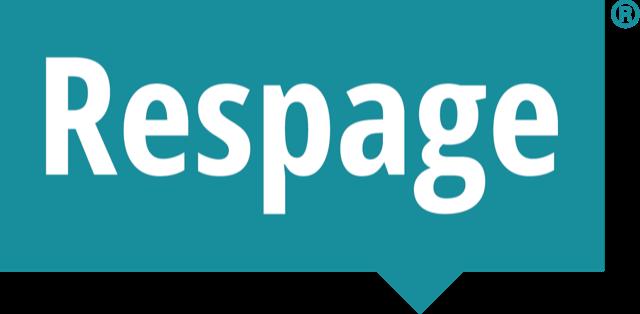Respage Logo WHITE-TEAL-Registered